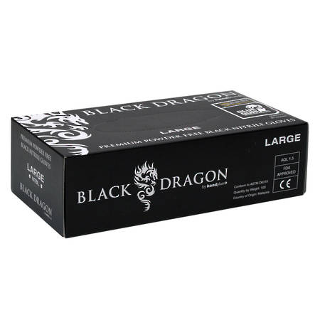 HANDPLUS Black Dragon Nitrile Gloves 100