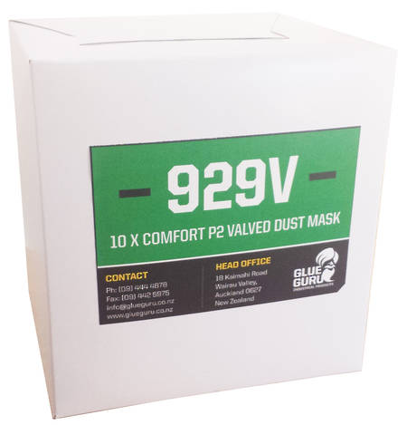 GLUE GURU 929V P2 Valved Cupped Respirator 10 pack