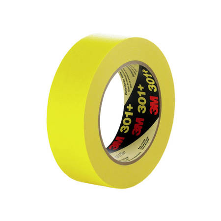 3M 301+ Performance Masking Tape - Yellow